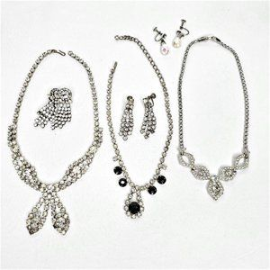 Mid Century Costume Jewelry Necklace Earring Sets